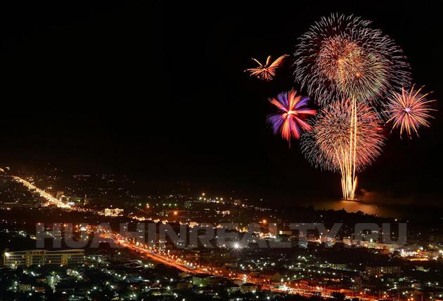 Новогодний салют в Хуа Хине