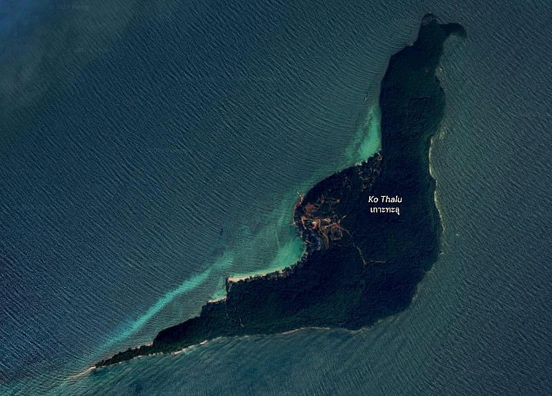 Остров Ко Талу на карте