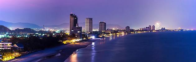 Фотография пляж Хуа Хина ночью
